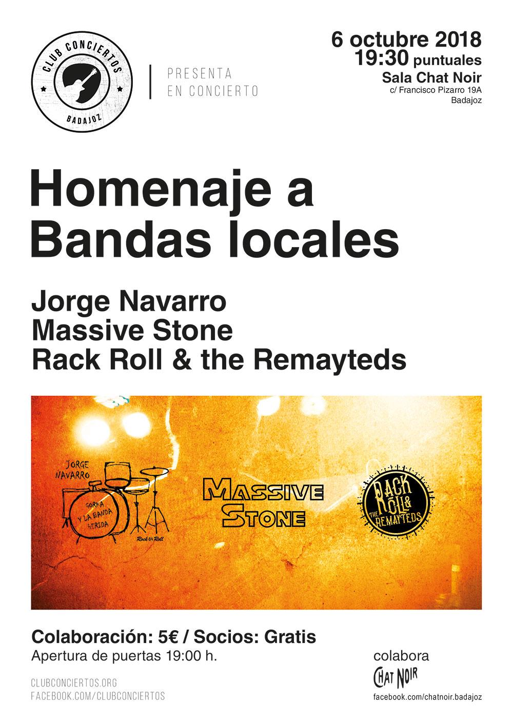 Concierto Homenaje a bandas locales. Chat Noir, 6 de octubre.
